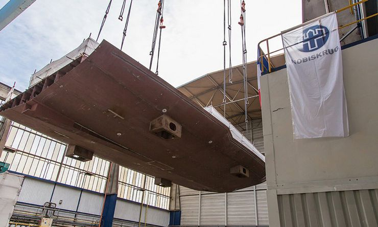 NOBISKRUG celebrates the keel laying of an 80-meter superyacht with a stunning design